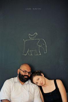 Jen and Vinod #chalk #couple