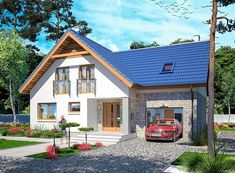 Home Building Design, Building A House, House Design, Bungalow Extensions, Small Buildings, Home Fashion, Kitchen Design, House Plans, Sweet Home