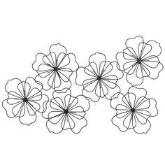 Déco murale fleurs en fil de métal noir 88x51 | Maisons du Monde