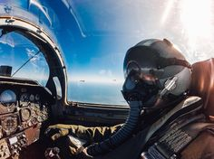 """Photo of the Day! """"@zdzeman12 you are cleared for a #selfie."""" Zack Zeman snaps a quick one while flying a T-38 Fighter during a training mission. Share your favorite #aviation content with us  bio. #GoPro by gopro"""