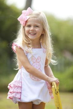 girls easter bunny sun suit