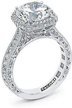 Tacori RoyalT Cushion Halo Diamond Engagement Ring