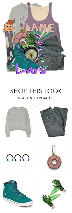 """Lars from Steven Universe"" by magykgirlz ❤ liked on Polyvore featuring Alexander Wang, Supra and Clips"