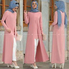 Islamic Fashion, Muslim Fashion, Modest Fashion, Fashion Dresses, Hijab Style Dress, Hijab Chic, I Dress, Mode Abaya, Modele Hijab
