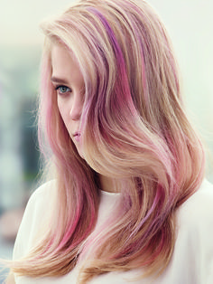 Pink Affair, by Wella Professionals. ROCK A DIFFUSED COLOR FINISH THAT FADES BEAUTIFULLY: the Matte Gloss service lets you rock the colors that weekends were made for: a diffused color finish to love, snap and share.