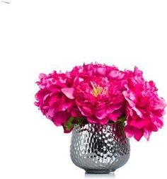 A premier online destination of luxury fabrics, wallpapers and furnishings from designers and to-the trade brands. Faux Flower Arrangements, Creative Colour, Mint Blue, Colour Board, Pink Peonies, Faux Flowers, Color Combinations, Hot Pink, Wallpaper