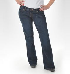 Bethany Low-Rise Boot Cut Jean Made in USA: All American Clothing Co