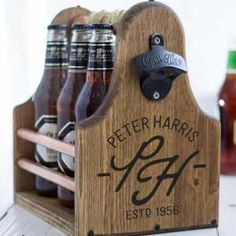"Personalize+that+beer+carrier+for+the+brew+drinker+in+your+life. Handmade+item. Lettering+Style:+Engraved<br+/>  Made+to+order. $63.47<br+/>  <br+/>  <a+href=""http://www.awin1.com/cread.php?awinmid=6220&awinaffid=235785&clickref=&p=https%3A%2F%2Fwww.etsy.com%2Flisting%2F226985751%2Fbeer-carrier-fathers-day-groomsman-best%3F""+target=""_blank"">Available+at+knotjustboxes+on+etsy.com</a>"