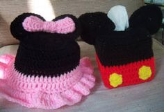 Mouse Ears Toilet Paper and Tissue covers.  Bathroom crochet!  $30.00 per set