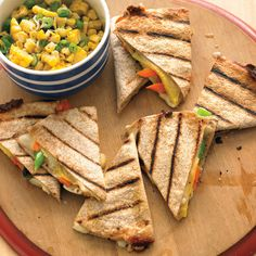 quesadillas with fresh vegetable quesadillas with fresh salsa ...