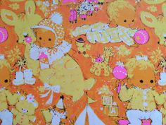 Vintage Gift Wrapping Paper by Hallmark by TheGOOSEandTheHOUND