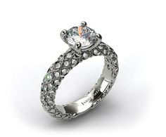 Looking for a unique ring? Check out this pave marquise scallop engagement ring from James Allen! | Luckymag.com
