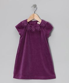 Take a look at this Purple Rosette A-Line Dress - Infant, Toddler & Girls by TS & Company by Trish Scully on #zulily today!