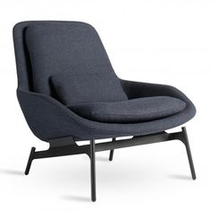 Navy Blue Lounge Chair- maybe in master bedroom? maybe in front room play area as extra seating? maybe in living room?