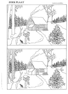 Winter Activities, Christmas Activities, Christmas Crafts, Autism Learning, Preschool Activities, Colouring Pages, Coloring Books, Find The Difference Pictures, Hidden Pictures