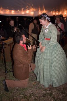 Leah Oxendine and her future husband Michael. Battle of Shiloh