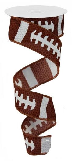 "Football Lace Sports Wired Ribbon - 1.5"" x 10 yd"