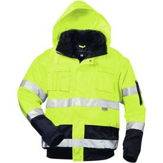 Warnschutzjacke Pilotenjacke Arbeitsjacke Warnjacke Winterjacke orange