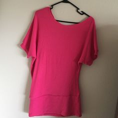 Off the shoulder top Pink top. Unsure of the size. I'm guessing it's about a medium. Off the shoulder style top. Very good condition. Tops Blouses