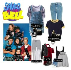 """""""Me in: 'Saved By The Bell'"""" by j-j-fandoms ❤ liked on Polyvore featuring Topshop, WithChic, Guild Prime, Converse, T By Alexander Wang, Sans Souci, Boohoo, Tommy Hilfiger, Witchery and Prism"""