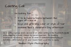 Model Call If you are a tween/teen living the the northern California area of Roseville/Rockllin, I'd love to have you apply to be  model for my...  www.nadeenflynn