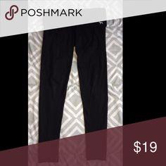 Pink (VS) yoga pants Plain black yoga pants. Great condition. PINK Victoria's Secret Pants Leggings