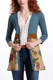 """Image result for """"cardigan too small"""" refashion"""