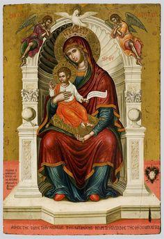 "Theotokos ""Lady the Lambovitissa"" Byzantine Icons, Byzantine Art, Religious Icons, Religious Art, Greek Icons, Madonna, Saints And Sinners, Jesus Art, Holy Mary"