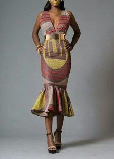 Body Fitting African Print Dress by MyAnkaraLove on Etsy
