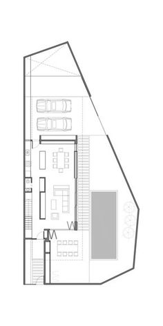 hotel arquitectura Image 26 of 28 from gallery of Acassuso House / VDV ARQ. Layouts Casa, House Layouts, Small House Plans, House Floor Plans, Plantas Duplex, Plano Hotel, Plan Studio, Compact House, Long House