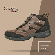Εξαιρετικά ελαφριά και άνετα trekking μποτάκια (Made in Italy). Από υψηλής ποιότητας υλικά, αδιάβροχα και ισοθερμικά, διαθέτουν σόλα με τεχνολογία anti-shock για απορρόφηση των κραδασμών. Ανδρικά παπούτσια ιδανικά για χειμερινές αποδράσεις. http://www.shooz4all.com/el/andrika-papoutsia/kafe-adiavroxa-mpotakia-61548-detail #shooz4all #adiavroxa #mpotakia