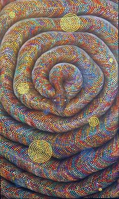 Complex Yet Beautiful Aboriginal Art Examples: Art is not something that happened in one era and that too when human beings were in a position where their Aboriginal Dot Painting, Dot Art Painting, Abstract Art, Aboriginal Tattoo, Aboriginal Art Animals, Encaustic Painting, Indigenous Australian Art, Indigenous Art, Arte Tribal