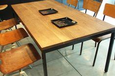 ダイニングテーブル01B|無垢材とアイアンのセミオーダー家具|CODESTYLE