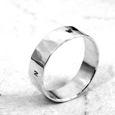 Never Lost // Compass Ring -- sterling silver ring by Kathryn Riechert