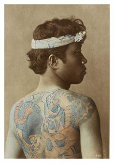 Portrait of a tattoed man--By Raimund von Stillfried-Rathenitz, c. 1875