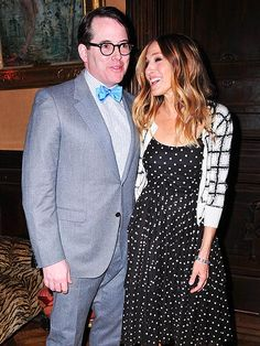 Matthew Broderick & Sarah Jessica Parker.  How cute are these outfits? And this couple? So cute.