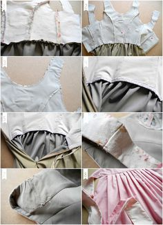 m é é lo lim: Dirndl Part tutorial on lining garments is in German I think. but there are great pics to explain Sewing Hacks, Sewing Tutorials, Sewing Projects, Dress Patterns, Sewing Patterns, Dirndl Dress, Doll Costume, Costume Contest, Sewing Techniques