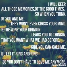 So You Don't Have To Love Me Anymore ~ Alan Jackson