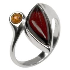 Honey Cherry Amber Sterling Silver Elegant Collection Ring Sizes 56789101112 * Check out this great product. (This is an affiliate link) Things To Buy, Stuff To Buy, 9 And 10, Sterling Silver Rings, Ring Sizes, Amber, Cherry, Gemstone Rings, Honey
