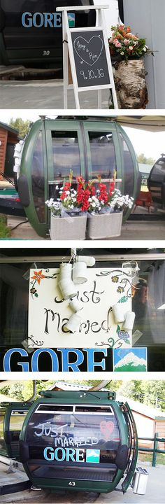 See how some past brides decorated their gondola send off cabin. Mountain Weddings, Rehearsal Dinners, Vows, Special Events, Brides, Destination Wedding, Reception, Party Ideas, Cabin