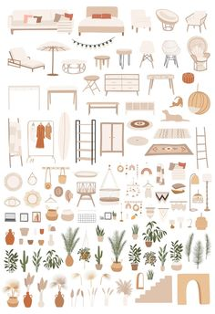 Interior Sketch, Interior Design Vector, Architecture Collage, Bohemian Interior, Art Mural, Clipart, Art For Sale, Wall Art Prints, How To Draw Hands