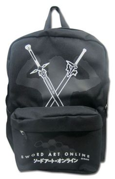Sword Art Online Kirito with Swords Black Backpack