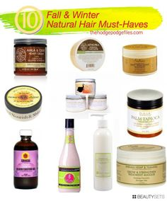 10 Must Have Natural Hair Products