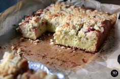 NAJLEPSZE i BEZ MIKSERA! Pyszne, proste i szybkie Ciasto z rabarbarem i kruszonką // BEST EVER rhubarb and crumble cake. Quick and Easy. Without the mixer   #food #dessert #cakes #foodporn #foodphoto #photography #easy #quick #blog #foodblog #yum #yummy #rhubarb #nomixer
