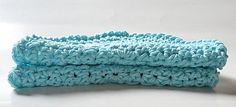 Set of 2 Robin Egg Blue Round Crochet Kitchen Durable Dishcloths – Robin Harley - FREE SHIPPING WORLDWIDE! Custom orders accepted