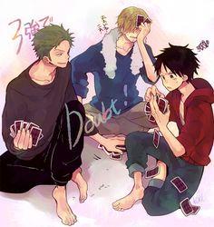 Tags: Anime, ONE PIECE, Sanji, Roronoa Zoro, Monkey D. Luffy, Straw Hat Pirates, Card (object)