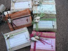 Gift wrapped natural hand made soap, 6 bar variety pack