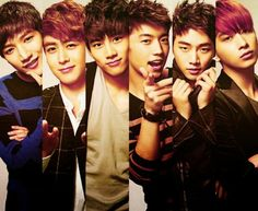 2PM- Jun K., Nickhun, Taecyeon, WooYoung, Junho, Chansung
