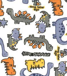 Snuggle Flannel Fabric Little Dinosaur