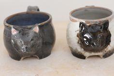 Commission Cat mugs Catie Daniel